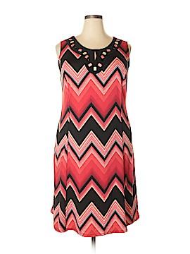 Perceptions Casual Dress Size 1X (Plus)