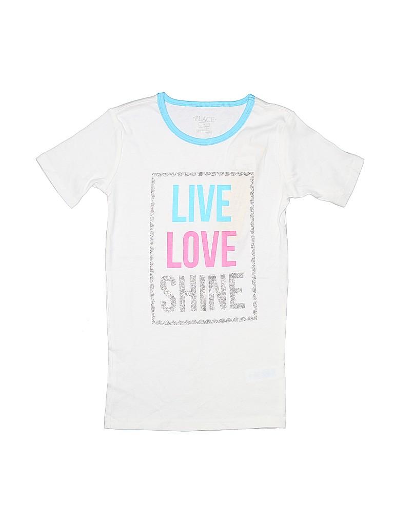 99b681c4 The Children's Place 100% Cotton Graphic White Short Sleeve T-Shirt ...