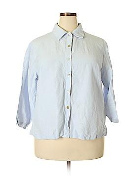 Eileen Fisher 3/4 Sleeve Button-Down Shirt Size 1X (Plus)