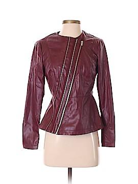 G by Giuliana Rancic Faux Leather Jacket Size XXS