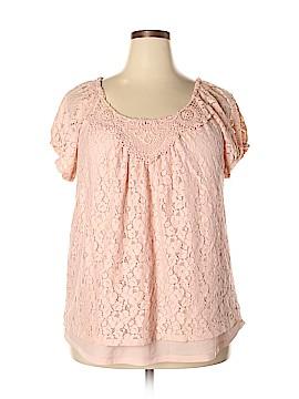 Elle Short Sleeve Blouse Size 1X (Plus)