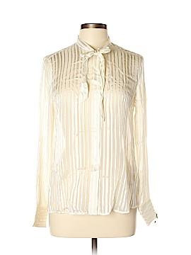Zara Long Sleeve Silk Top Size L