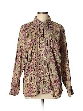 Charter Club Long Sleeve Button-Down Shirt Size 20 (Plus)