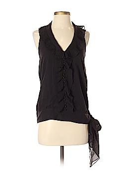 BCBGMAXAZRIA Sleeveless Silk Top Size S