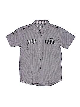 Indigo Star Short Sleeve Button-Down Shirt Size 12