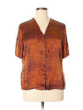 Nygard Collection Short Sleeve Silk Top Size 16