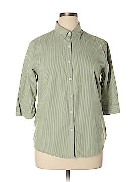 North Crest 3/4 Sleeve Button-Down Shirt Size XL