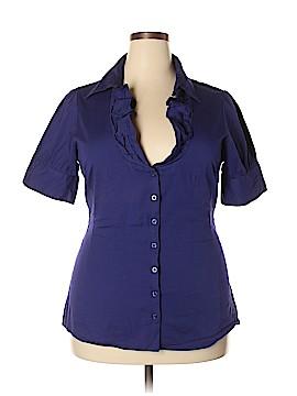 Ali & Kris Short Sleeve Button-Down Shirt Size 1X (Plus)