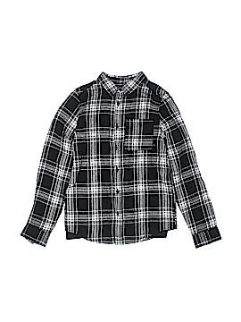 Rebel Long Sleeve Button-Down Shirt Size 10