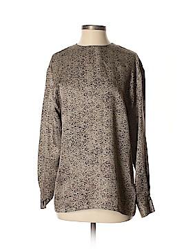 Linda Allard Ellen Tracy Long Sleeve Silk Top Size 8
