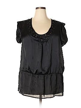 Allison Morgan Short Sleeve Blouse Size 1X (Plus)