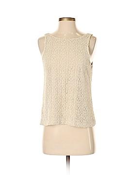 Ann Taylor Sleeveless Button-Down Shirt Size S