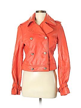 H Hilfiger Leather Jacket Size M
