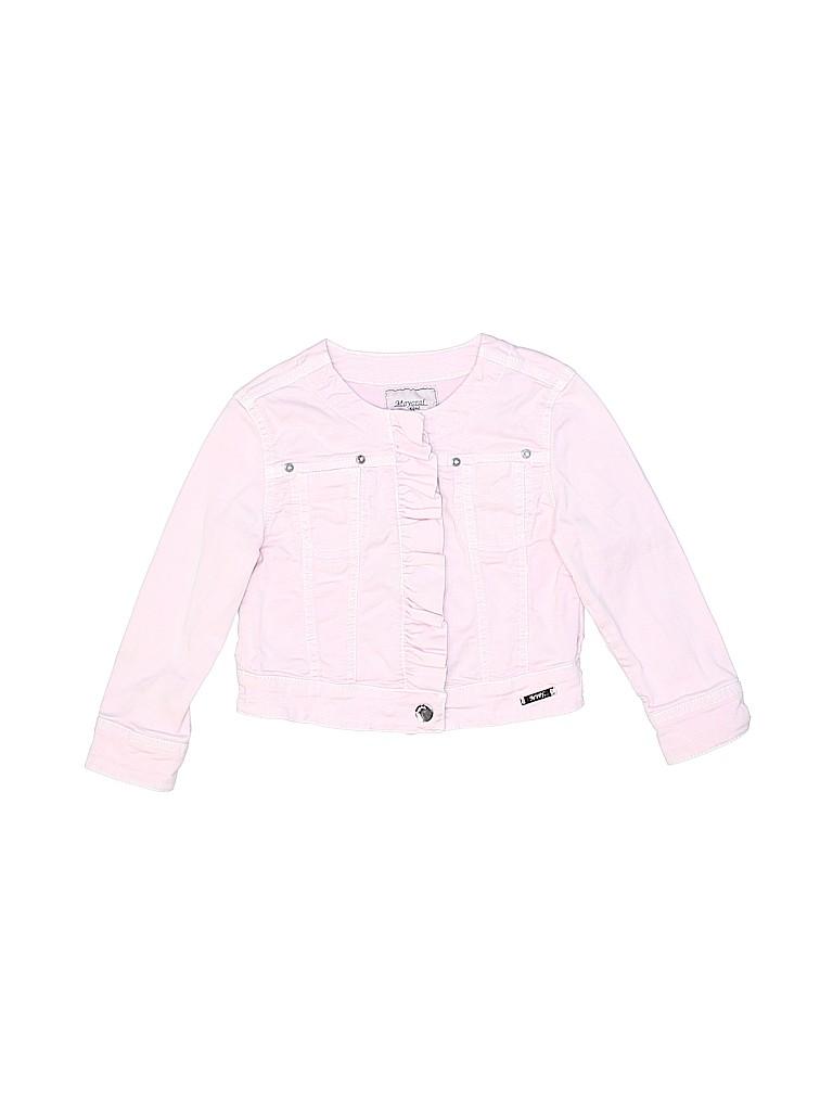 84a12510f03 Mayoral Solid Light Pink Denim Jacket Size 2T - 82% off