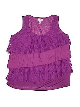 OSO Casuals Sleeveless Blouse Size 1X (Plus)