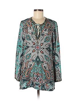 Sundance Long Sleeve Silk Top Size M