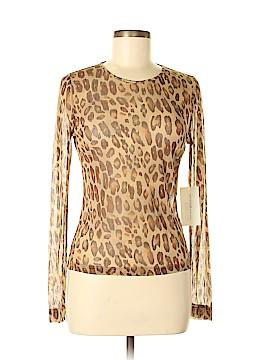 Emanuel by Emanuel Ungaro Long Sleeve Silk Top Size M