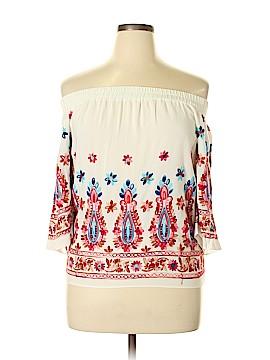 Karen by Karen Kane 3/4 Sleeve Blouse Size M