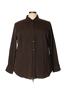 Venezia Long Sleeve Button-Down Shirt Size 28 - 26 Plus (Plus)