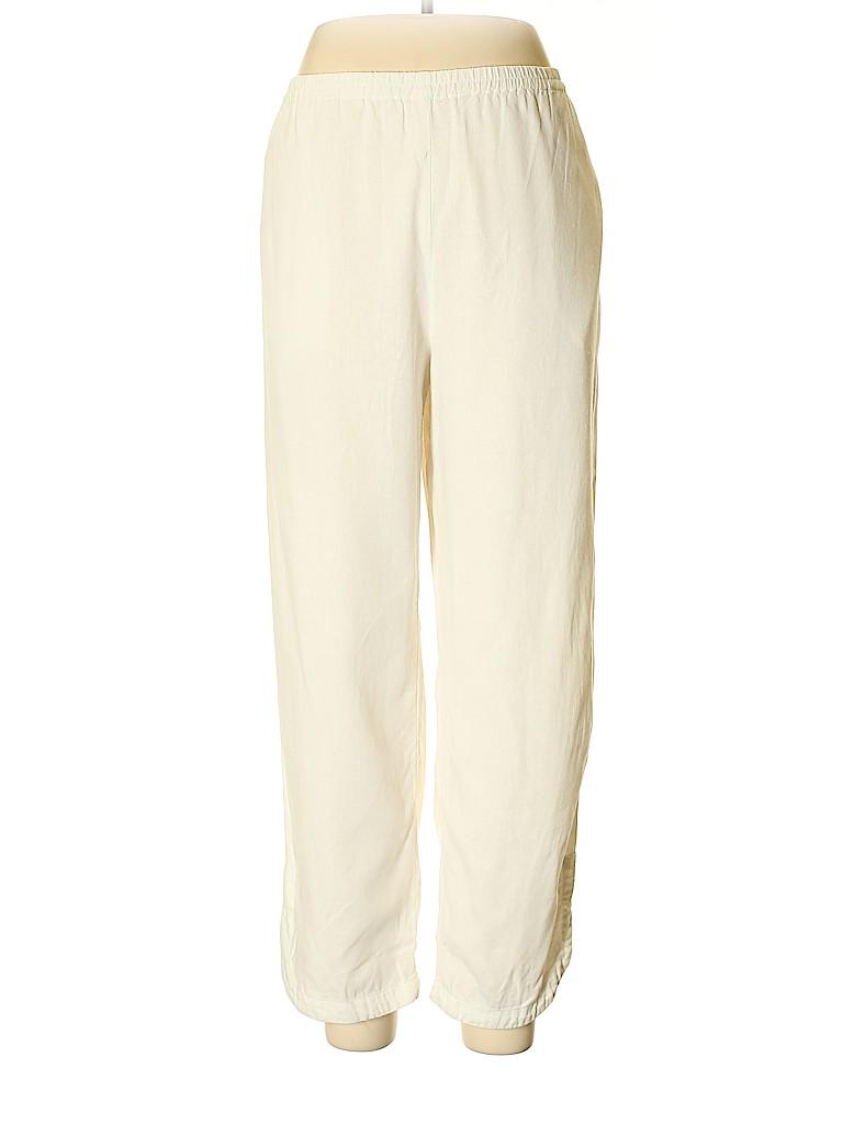 Susan Graver Women Linen Pants Size L