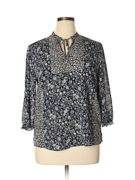 Chaps 3/4 Sleeve Blouse Size XL (Petite)