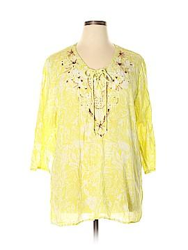 Khakis & Co 3/4 Sleeve Blouse Size XL