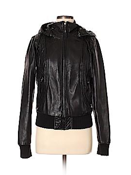 Aqua Leather Jacket Size M