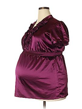 Two Hearts Maternity Short Sleeve Blouse Size XL (Maternity)