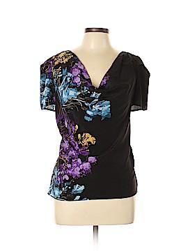 Cynthia Steffe Short Sleeve Silk Top Size 10