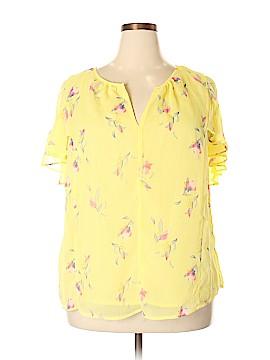 Ava & Viv Short Sleeve Blouse Size 1X (Plus)
