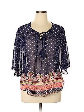 Olsenboye 3/4 Sleeve Blouse Size L