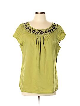 Liz & Co Short Sleeve Blouse Size XL