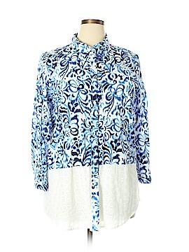 Avec Long Sleeve Button-Down Shirt Size XL