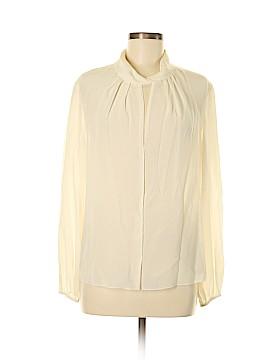 CH Carolina Herrera Long Sleeve Silk Top Size 8