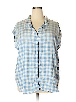 Intro Sleeveless Button-Down Shirt Size 2X (Plus)