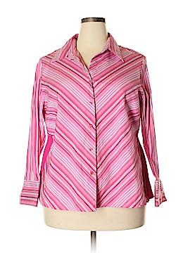 DCC Long Sleeve Button-Down Shirt Size 1X (Plus)