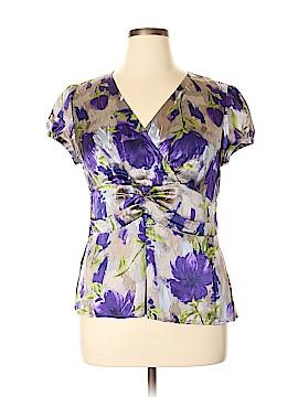 Ann Taylor Short Sleeve Silk Top Size 16 (Petite)