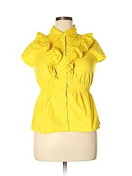 Dereon Short Sleeve Button-Down Shirt Size XL