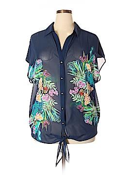 Roz & Ali Short Sleeve Blouse Size 2X (Plus)