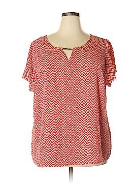 Zac & Rachel Short Sleeve Blouse Size 3X (Plus)