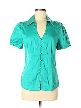 Classiques Entier Short Sleeve Button-Down Shirt Size M