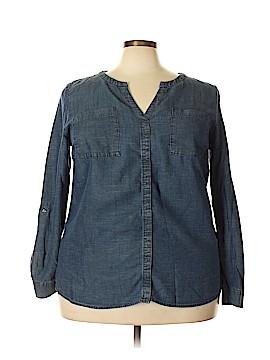 INC International Concepts Long Sleeve Button-Down Shirt Size 18 (Plus)