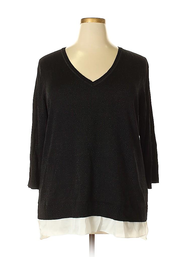 Calvin Klein Women Pullover Sweater Size 1X (Plus)