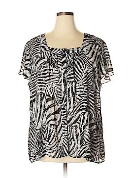 Fashion Bug Short Sleeve Blouse Size 2X (Plus)