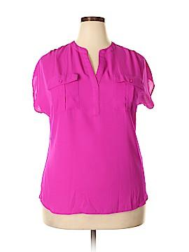 INC International Concepts Short Sleeve Blouse Size XXL
