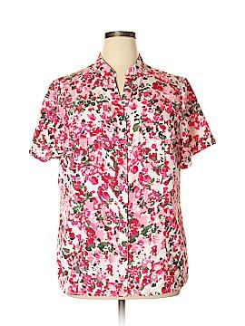 Laura Scott Short Sleeve Button-Down Shirt Size 16 - 18