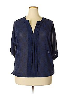 Rose & Olive Short Sleeve Blouse Size 1X (Plus)