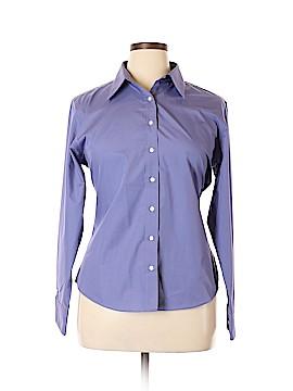 Lands' End Long Sleeve Button-Down Shirt Size 16
