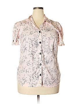 Sara Michelle Short Sleeve Button-Down Shirt Size 1X (Plus)