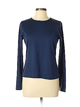 Saks Fifth Avenue Long Sleeve Silk Top Size L